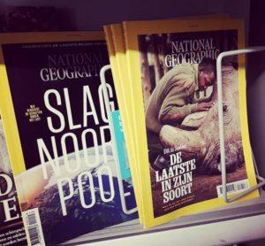 Exemplaren van National Geographic Magazine waaraan ik als vertaler heb meegwerkt (2019).